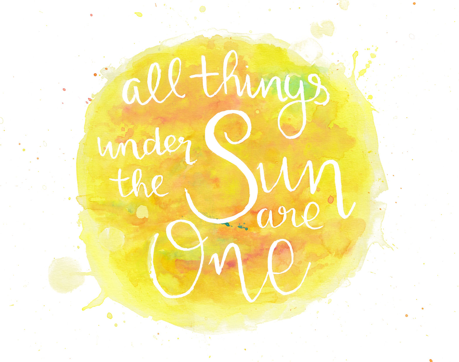 all things are one illustratie waterverf petra van dreumel