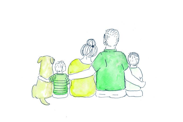 familie illustratie op maat
